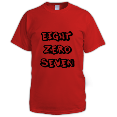 EIGHTZEROSEVEN MENS TEE