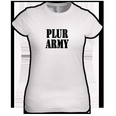 PLUR Army House EDM Festival design