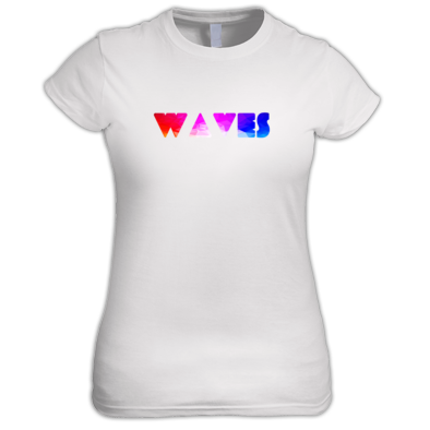 Waves Geometric Pattern Raves Festival tshirt