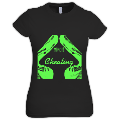 CHEATING SKETCH WOMENS T-SHIRT