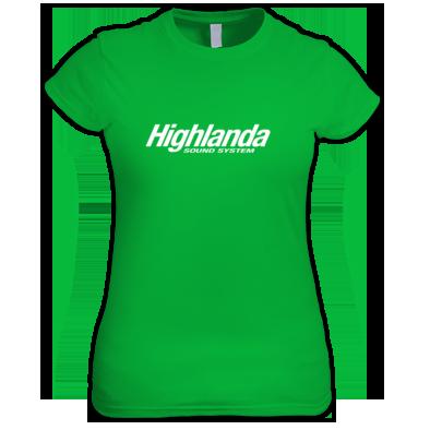 Highlanda logo womens tee