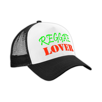 Reggae Lover color logo Trucker Hat