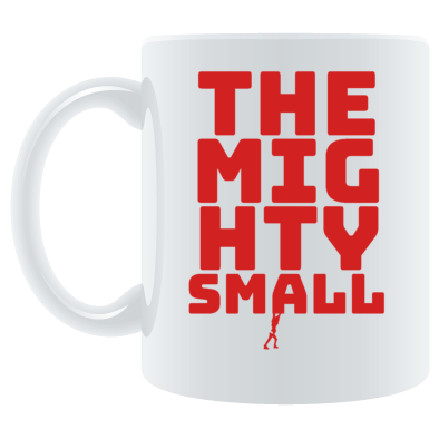 TheMightySmall Words Tiny Man mug