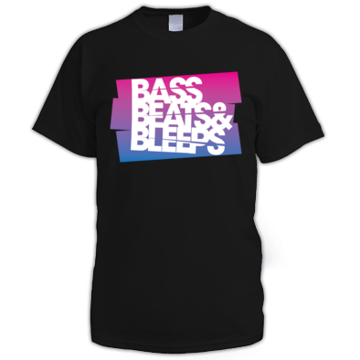 Mens Bass Beats And Bleeps Tee (Design 2)