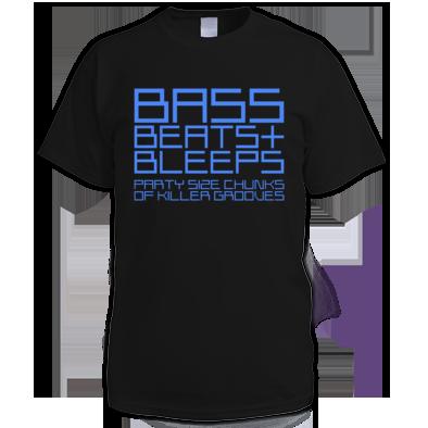 Mens Bass Beats And Bleeps Tee (Design 1)