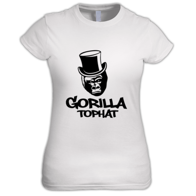 Gorilla Tophat Ladies T-Shirt