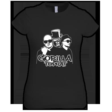 Gorilla Tophat Unnatural Habitat Ladies T-Shirt