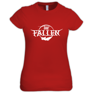 The Fallen Women's White on Red Shirt