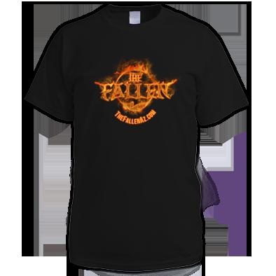 The Fallen Men's Black T-Shirt - FIRE Logo