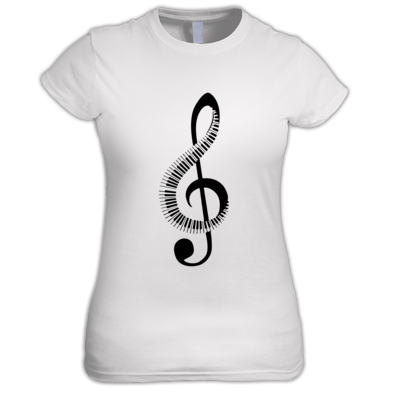 Keyboard Treble Clef - Women's