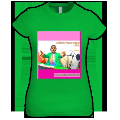 Trabas Project Radio camiseta verde Chica