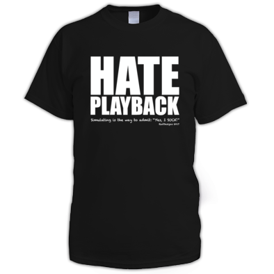Hate Playback LOGOWHT
