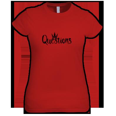Questions (Black) T-shirt Women