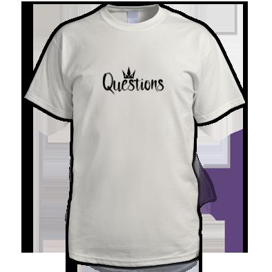 Questions (Black) T-shirt Men