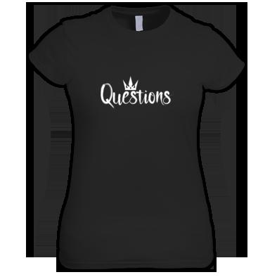 Questions (White) T-shirt Women