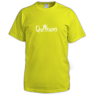 Questions (White) T-shirt Men