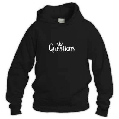 Questions (White) Hoodie