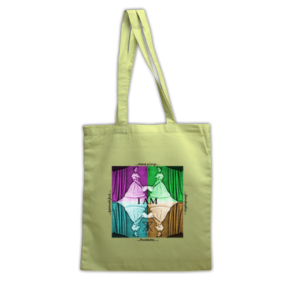 I Am artwork tote bag
