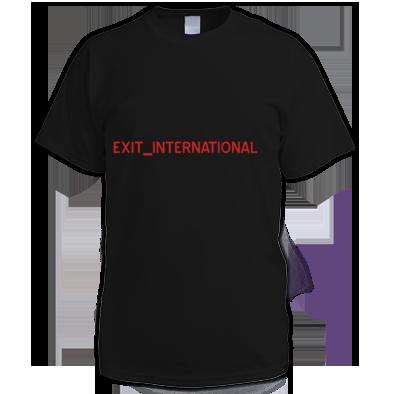 "EXIT_INTERNATIONAL ""LOGO"" TEE"