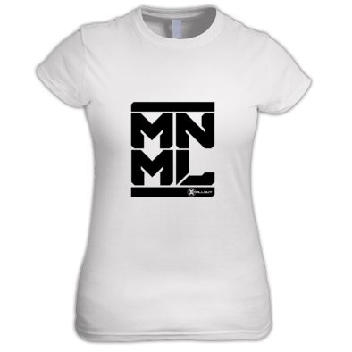 Zero Method - MNML Tee Womans (Black Logo)