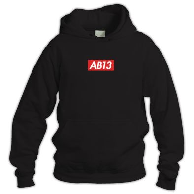 AB13 Box Logo Hoodie