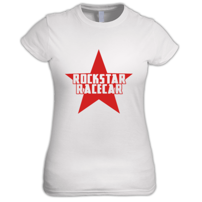Ladies' Fashion Fit Rockstar Racecar Star Logo
