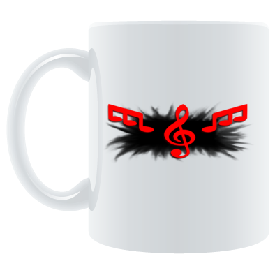 Mug Black Splash Logo