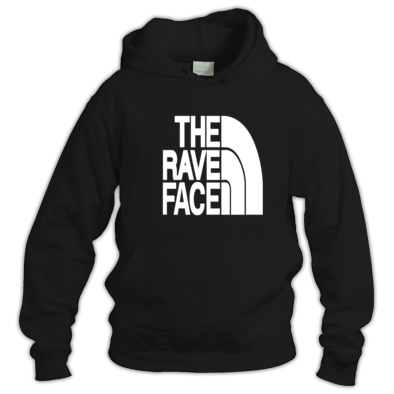 The Rave Face Men's hoody White print