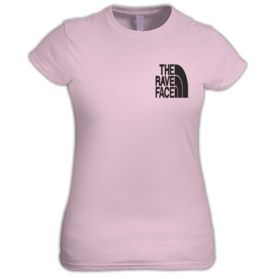 The Rave Face Women's Small black logo
