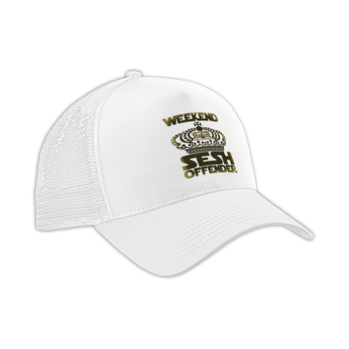 Weekend sesh offender Cap's Gold print