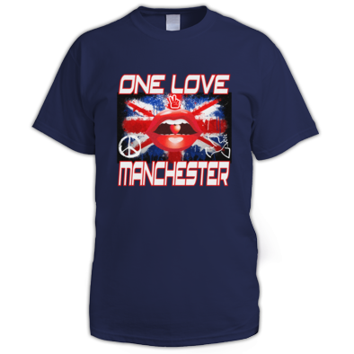 25% of profit's donated to we love Manchester fund, One Love Manchester T Shirt's Men's