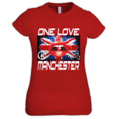 25% of profit's donated to We love Manchester fund, One Love Manchester T Shirt's Women,s