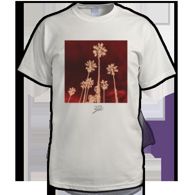 Red Palms White Tee