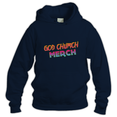 God Church Merch Hoodie: Orange-Pink