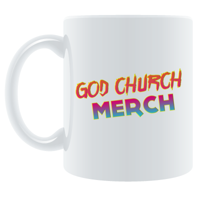 God Church Merch Mug: Orange-Pink