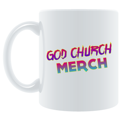 God Church Merch Mug: Red-Blue