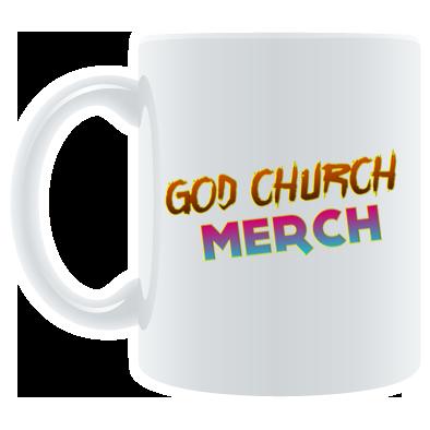 God Church Merch Mug: Orange