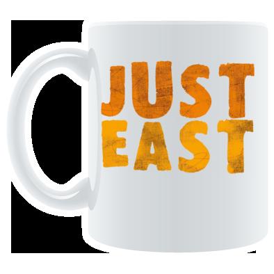 Just East logo mug