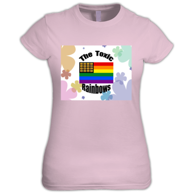 Toxic Rainbow Flag w/ Flower Power Women's T-shirt