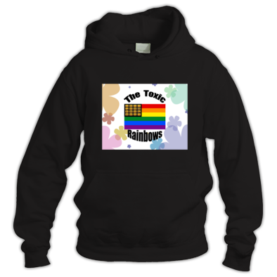 Toxic Rainbow Flag w/ Flower Power Hoodie