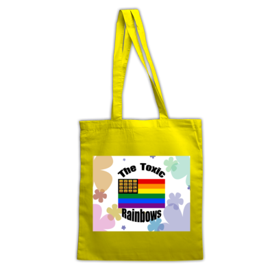 Toxic Rainbow Flag w/ Flower Power Totebag