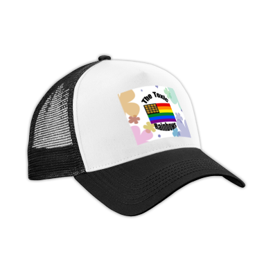 Toxic Rainbow Flag w/ Flower Power Trucker Hat