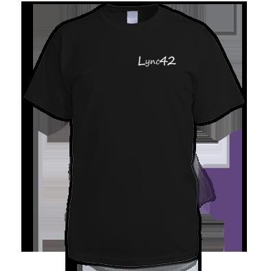 Lync42 Logo White - For Dark Tee's