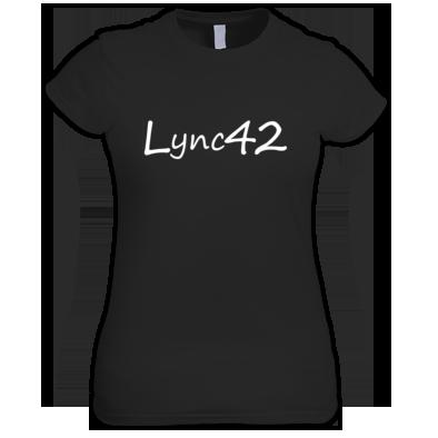 Lync42 Logo White - For Ladies Tee's