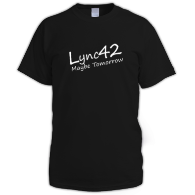 Lync42 Maybe Tomorrow WHITE Logo