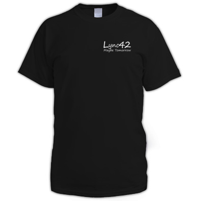 Lync42 Maybe Tomorrow WHITE Logo - Small