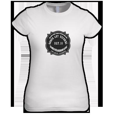 Oddeo Art Records  Logo Women's T(white)