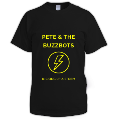 Pete & the Buzzbots Lighting Strike Male T-Shirt