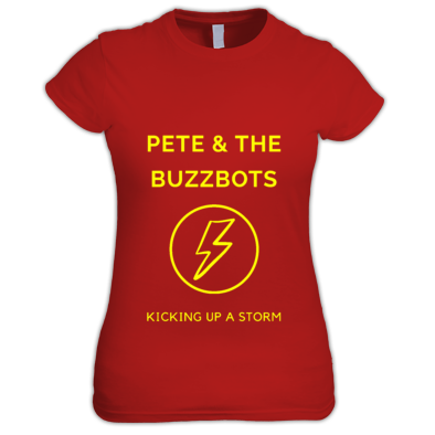 Pete & the Buzzbots Lighting Strike Ladies T-Shirt