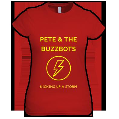 Pete & the Buzzbots Lighting Strike Ladies T-Shirt